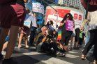 עובדי חסות הנוער מוחים נגד הפרטת המעונות, תל אביב, 6.8.18 (חגי מטר)