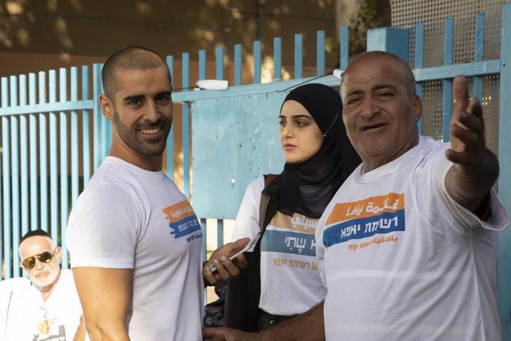 עבד אבו שחאדה, ראש רשימת יאפא, ביום הבחירות לעיריית תל אביב-יפו (אורן זיו / אקטיבסטילס)