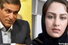 חבר הפרלמנט איים על הצעירה שאם תתלונן - תיפגע. זהרא נווידפור וסלמאן חודאדאדי (צילום: רשתות חברתיות באיראן)