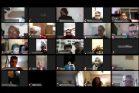 """חלק מכמעט 200 משתתפי השיחה בין ישראל לעזה. (צילום מסך באדיבות """"זזים"""")"""