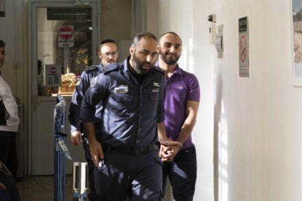 מוסטפא אל חרוף מובא לדיון לאחר מעצרו (אורן זיו/ אקטיבסטילס)