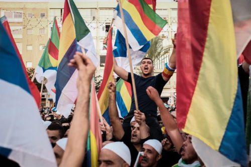 צעירי הקהילה הדרוזית במהלך ההפגנה נגד חוק הלאום בכיכר רבין (תומר ניוברג / פלאש 90)