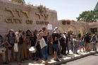 """מפגינים במחאה נגד השתלטות עמותת אלע""""ד על חלק מבית משפחת סיאם בסילוואן (צילום: Free Jerusalem)"""