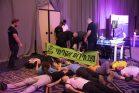 מחאת האקלים בכנס ״כלכליסט״ בתל אביב