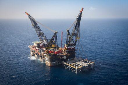 אסדת הגז בלווייתן (צילום: מרק ישראל סלם)