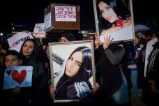 מחאה נגד אלימות נגד נשים בתל אביב, 4 בדצמבר 2018 (צילום: מרים אלסטר / פלאש90)