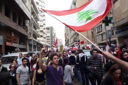 הפגנות בלבנון ב-2010 (צילום: Shakeeb Al-Jabri)