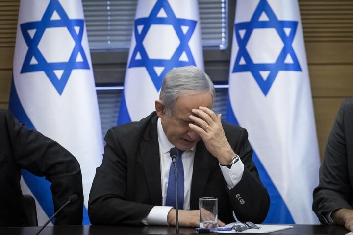 ראש הממשלה, בנימין נתניהו, בפגישה של מפלגות ימין בכנסת, ב-20 בנובמבר 2019 (צילום: הדס פארוש / פלאש90)