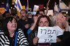 מפגינים בעצרת התמיכה בבנימין נתניהו, ב-26 בנובמבר 2019 (צילום: אורן זיו)
