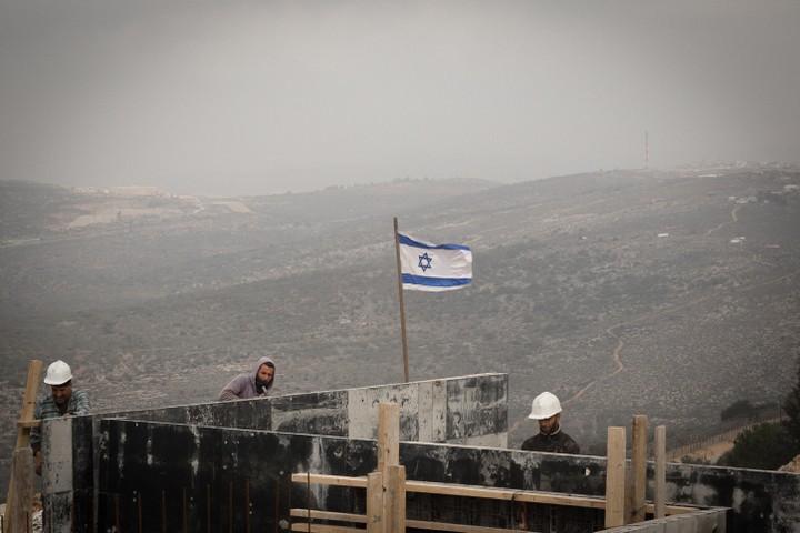אתר בנייה באריאל (צילום: סבי ברנס / פלאש 90)