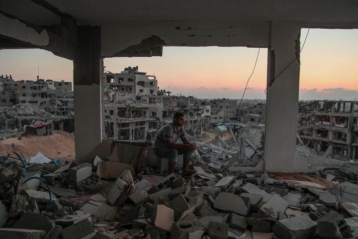 הרס בשכונת אל שג'אעיה עזה במבצע צוק איתן, ב-28 באוגוסט 2014 (צילום: עימאד נאסר / פלאש90)