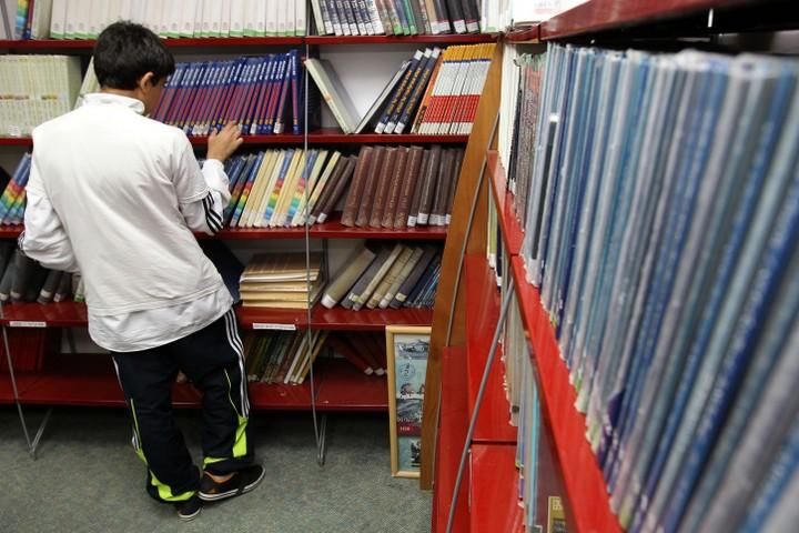 """""""גדל דור צעיר חף מאידיאולוגיה"""". תלמיד בספריית בית ספר (צילום: נתי שוחט / פלאש 90)"""