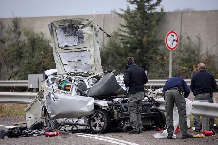 מכונית שהונח בה מטען בצפון (צילום: פלאש 90)