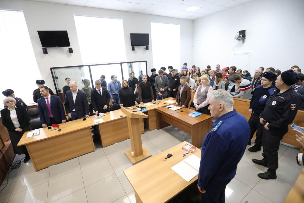 דיון הקראת גזר הדין, בבית המשפט בעיר פנזה, לבית המשפט בפנזה, 10 בפברואר, 2020 (צילום: דויד פרנקל/ Mediazona)