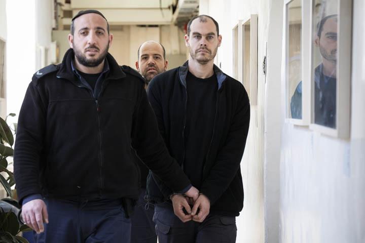 דיון הארכת מעצר ליונתן פולק, בית משפט השלום בירושלים, 30 בינואר 2020 (צילו: אורן זיו)