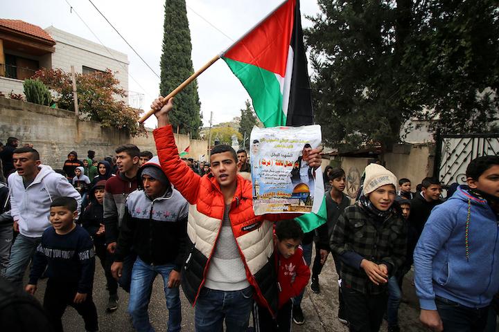 הלווייתו של באדר נאפלה, בכפר קפין שליד טולכרם, ב-8 בפברואר 2020 (צילום: אחמד אל באז/ אקטיבסטילס)