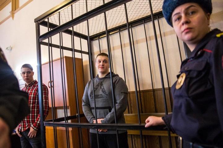 איגור שישקין במהלך דיון במשפט בסנט פטסבורג, במרץ 2018 (צילום: דויד פרנקל/ Mediazona)