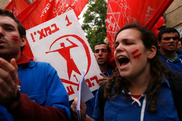 לסוציאל דמוקרטיה אין כמעט היום ייצוג פוליטי. הפגנה של האחד במאי בירושלים (צילום: מרים אלסטר / פלאש 90)