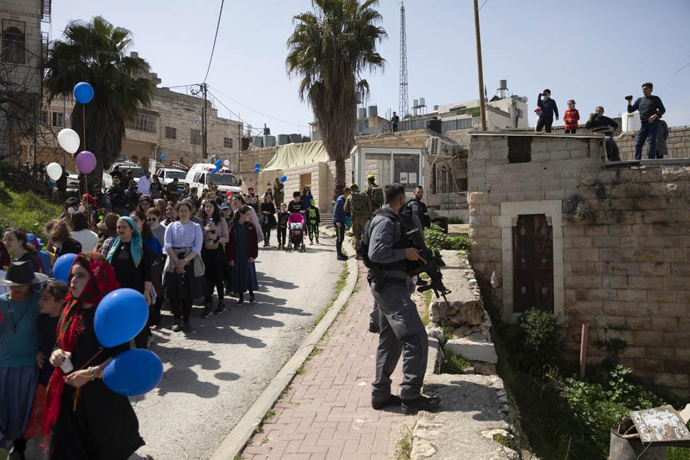עדלאידע ברחוב השוהדא חברון, 10 במרץ 2020 (צילום: אורן זיו)