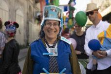 אורית סטרוק בעדלאידע ברחוב השוהדא חברון, 10 במרץ 2020 (צילום: אורן זיו)