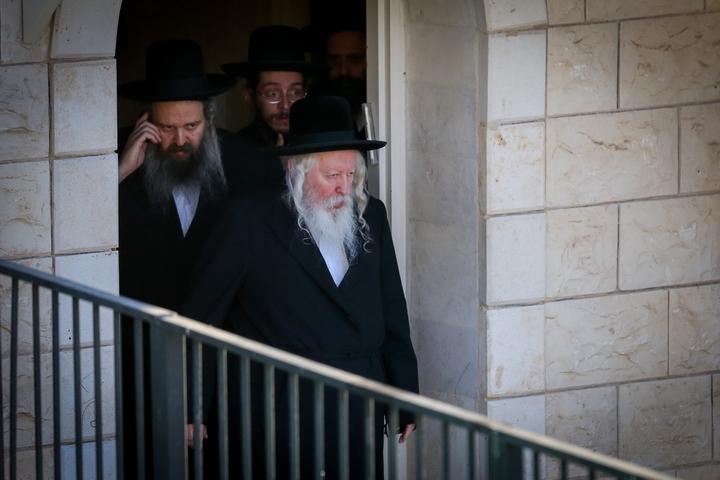 """הרב יעקב אריה אלתר, האדמו""""ר מגור, באוגוסט 2019 (צילום: דוד כהן / פלאש90)"""