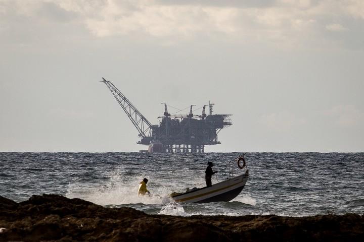 אסדת הגז בלווייתן, ב-1 בינואר 2020 (צילום: פלאש90)
