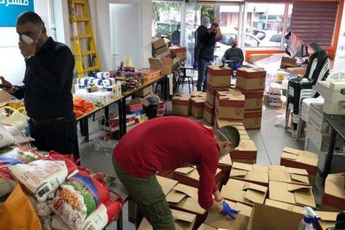 יוזמה לחלוקת מזון לנזקקים בחיפה, שהקים בלאל אלחוסרי (צילום: באדיבות אלחוסרי)