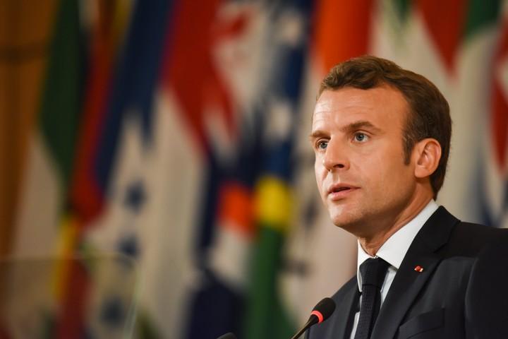 מאמץ את מה שאומר השמאל כבר מאה שנה. נשיא צרפת עמנואל מקרון (צילום: ארגון העבודה העולמי)