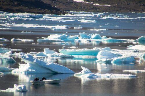 קרחונים נמסים בגרינלנד (צילום: pxfuel)