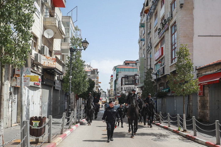הרשות הפלסטינית עושה ככל יכולה, אבל יכולותיה מועטות. שוטרים ברמאללה (צילום: פלאש 90)
