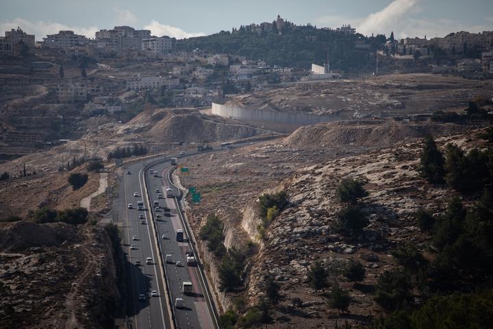 כביש מעלה אדומים-ירושלים באזור E1, ב-10 בדצמבר 2019 (צילום: הדס פארוש / פלאש90)
