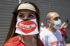 שינויים לא קורים. הם נגרמים. הפגנת העובדים העצמאיים מוך הכנסת, 6 באפריל 2020 (צילום: אוליבייה פיטוסי / פלאש 90)