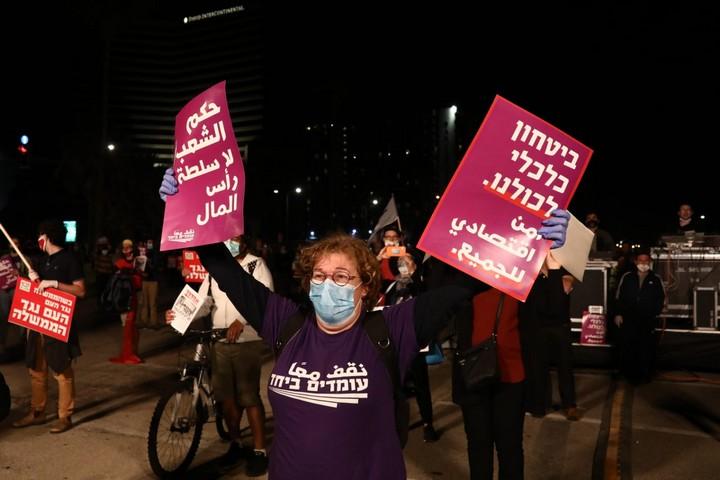 """הפגנת """"העם נגד המנותקים"""" בתל אביב (אורן זיו)"""