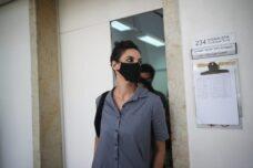 שמרה על זכות השתיקה במשפט. יפעת דורון בדיון מתן גזר הדין היום (צילום: יונתן זינדל / פלאש 90)