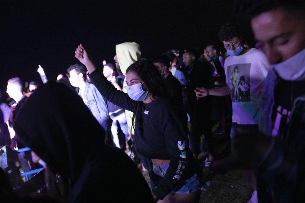 מחאת העצמאיים וחיי הלילה, גן צ׳ארלס קלור, 9 במאי 2020 (צילום: אורן זיו)