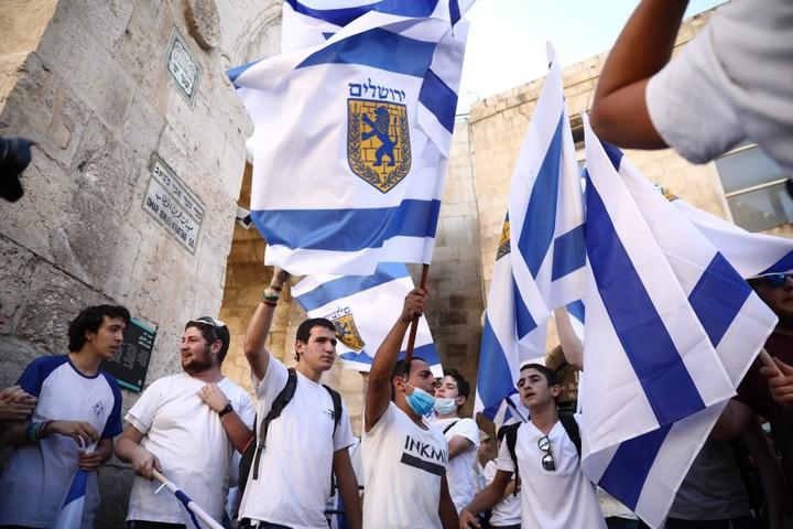 מצעד הדגלים בירושלים, ב-21 במאי 2020 (צילום: אורן זיו)