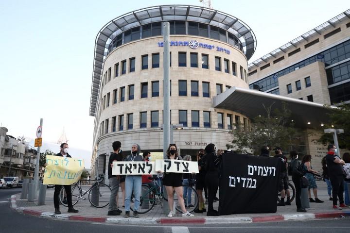 מחאה בתל אביב נגד הריגתו של איאד אלחלאק, ב-30 במאי 2020 (צילום: אורן זיו)