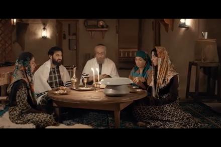 """צילום מסך מתוך הסדרה """"אום אהרון"""" ברשת הסעודית MBC"""
