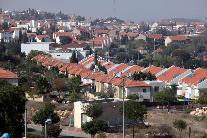 מבט על העיר אריאל, אחת מההתנחלויות הגדולות ביותר בגדה המערבית (צילום: יוסי זמיר / פלאש90)
