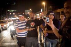 מעצר בהפגנה נגד שוד הגז, בתל אביב ב-2015 (צילום: אורן זיו)