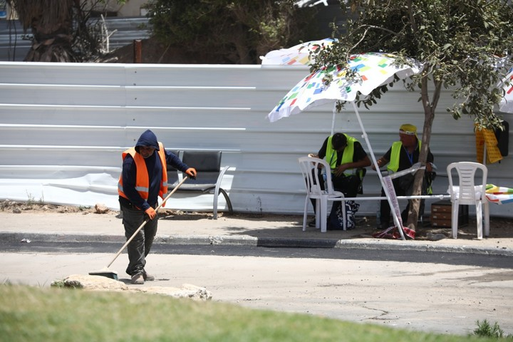הגדר סביב בית הקברות אל-אסעאף, ב-17 ביוני 2020 (צילום: אורן זיו)