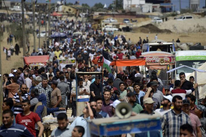 הפגנות בגדר בין עזה לישראל, 14 במאי 2018 (צילום: מוחמד זאנון/ אקטיבסטילס)