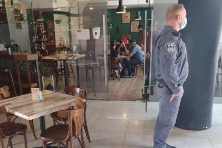 """פשיטה משטרתית על המרכז למוזיקה ע""""ש אדוארד סעיד במזרח ירושלים, ב-22 ביולי 2020 (צילום: באדיבות רשת אלקודס לתקשורת)"""