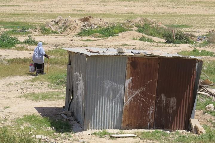צריף של פלסטינים בנגב (צילום: nafrenkel88, CC BY 2.0)