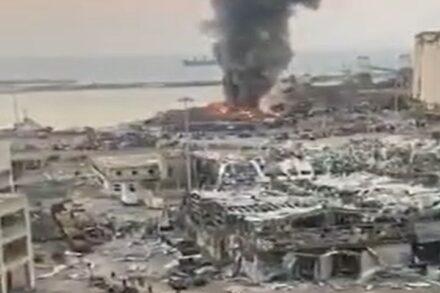 ההרס בנמל ביירות אחרי הפיצוץ, ב-4 באוגוסט 2020