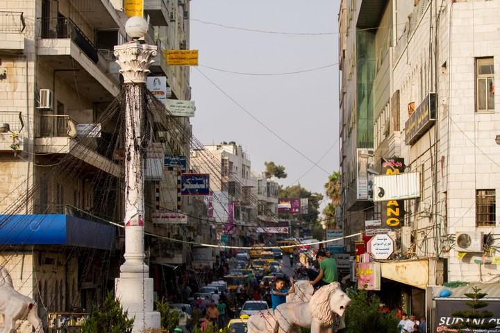רחוב ברמאללה, ב-4 באוגוסט 2015 (צילום: מיכה בונד / פלאש90)