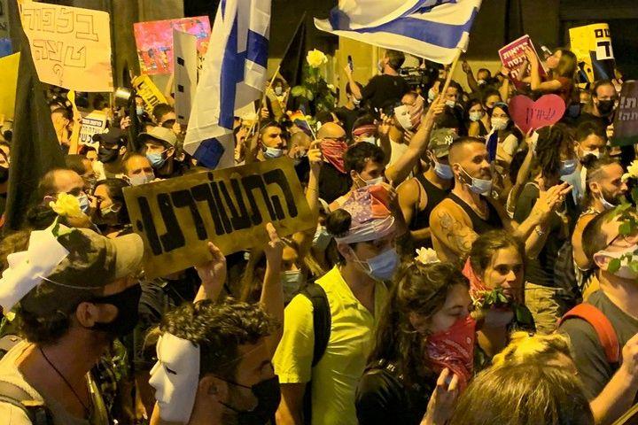 הפגנה בירושלים, ב-1 באוגוסט 2020 (צילום: חגי מטר)