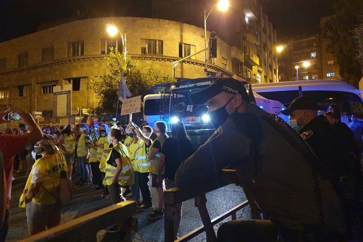 הפגנה בירושלים, ב-1 באוגוסט 2020 (צילום: אורלי נוי)
