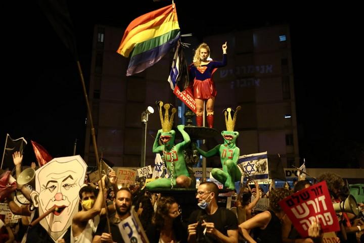 הפגנה בירושלים 8 באוגוסט 2020 (צילום: אורן זיו)