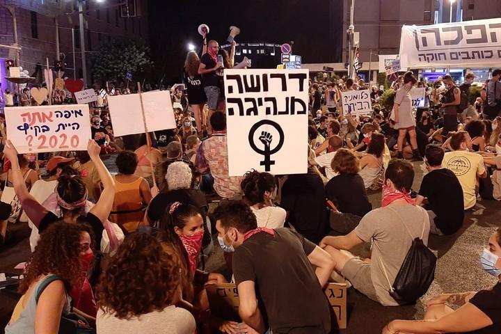 מחאת בלפור, הפגנה בירושלים, ב-5 בספטמבר 2020 (צילום: נטשה דודינסקי)